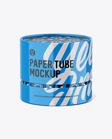 Glossy Paper Tube Mockup (1)
