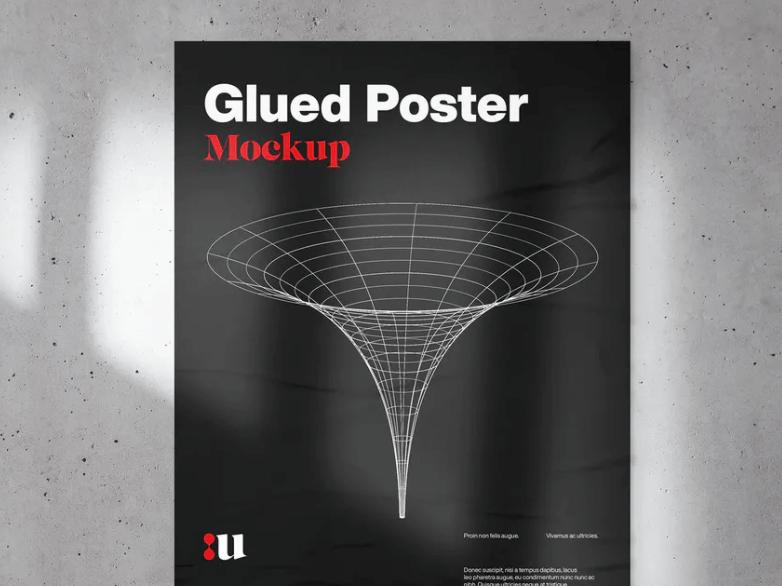 Glued Poster Mockup1