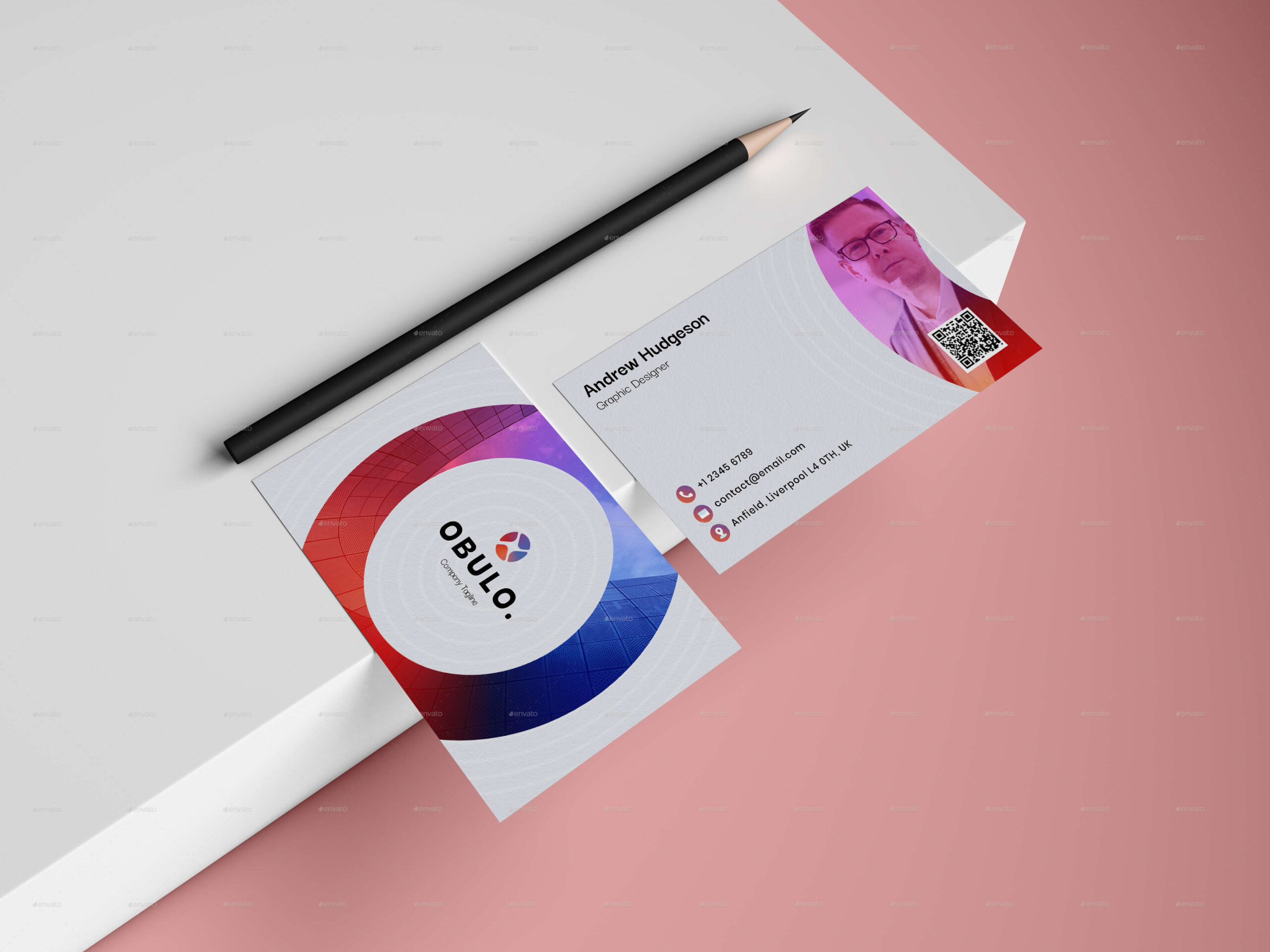Gradient Circle Business Card (1)