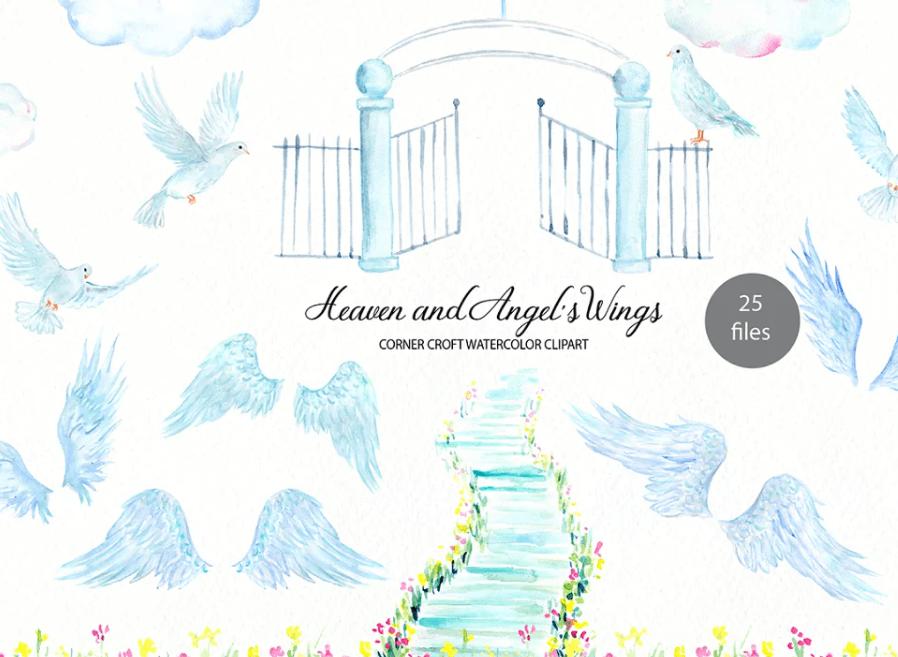 Heaven, Angel's Wings Illustration