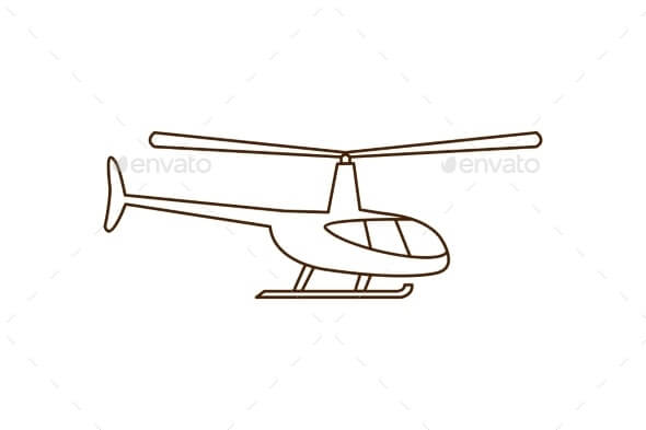 Helicopter Line Icon (1)