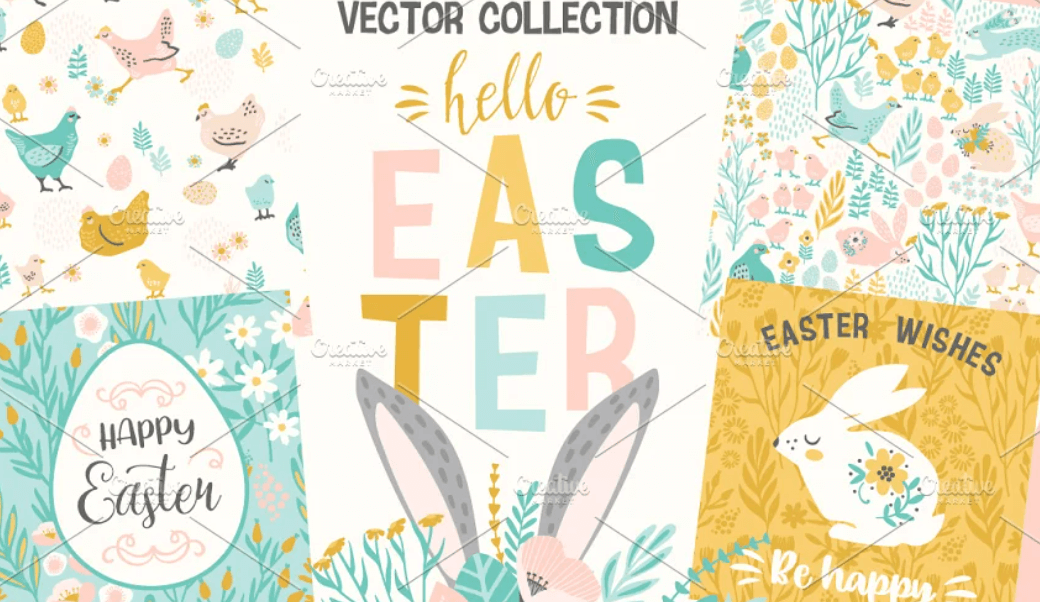 Hello Easter! Vector collection