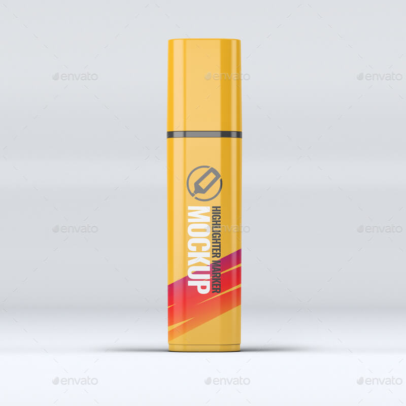 Highlighter Marker Pen Mock-Up (1)