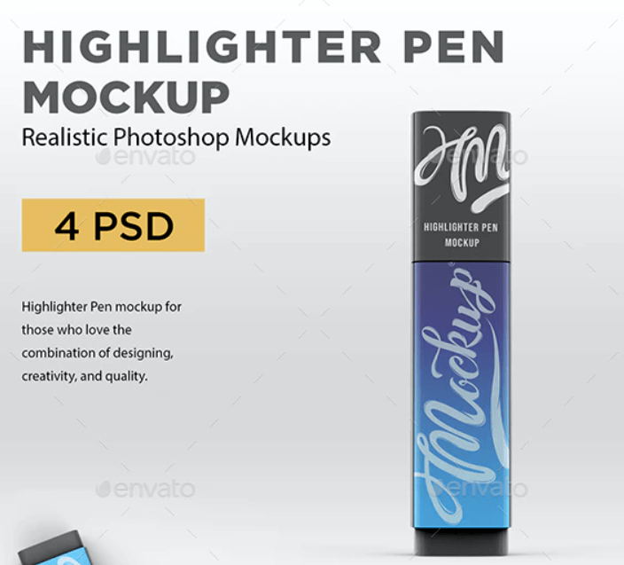 Highlighter Pen Mockup