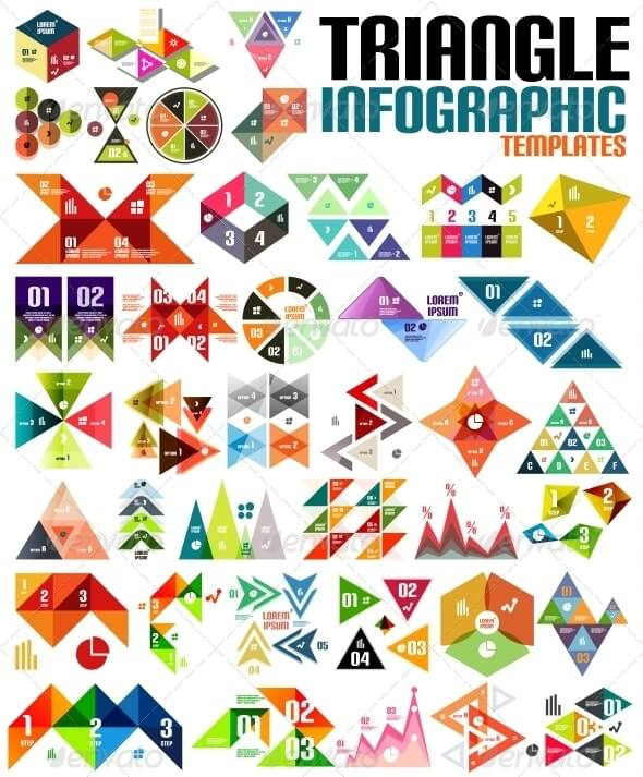 Huge Geometric Shape Infographic Template Set (1)