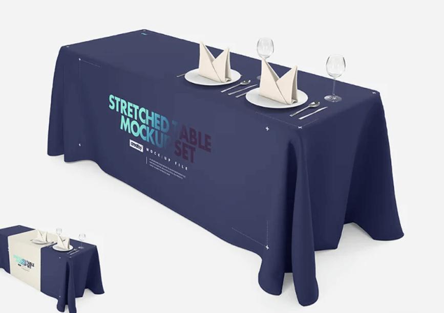 Imprinted Tablecloth Mockup Set
