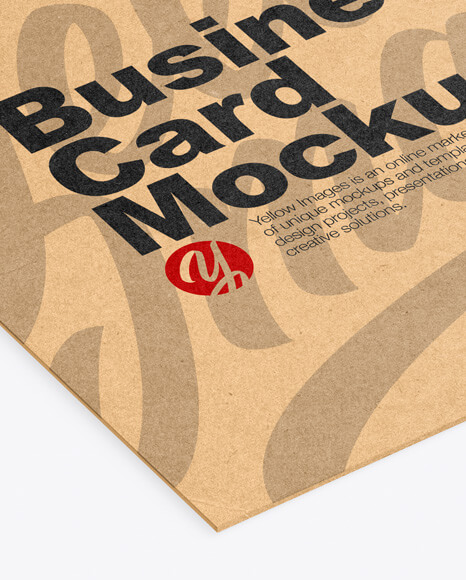 Kraft Business Card Mockup (1)