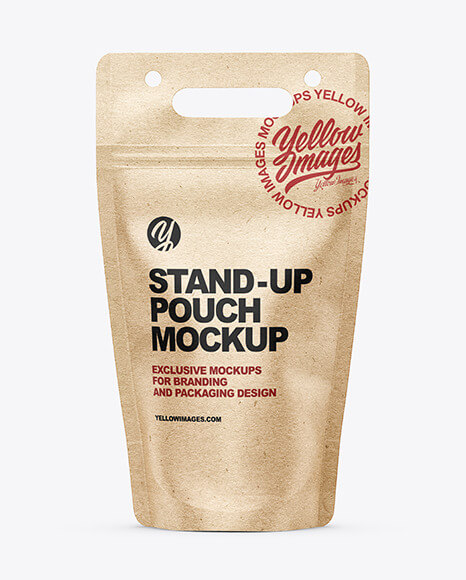 Kraft Stand-up Pouch Mockup (1)