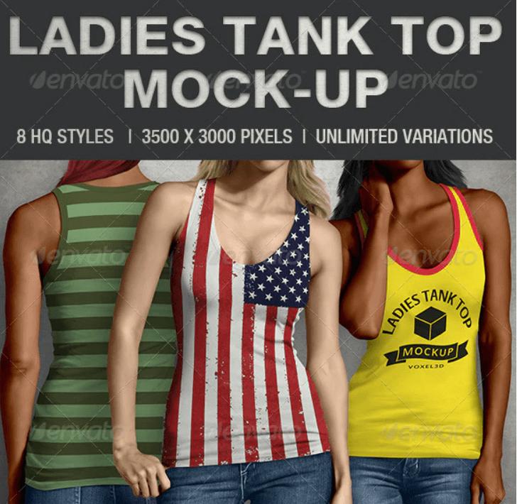 Ladies Tank Top Mock-up