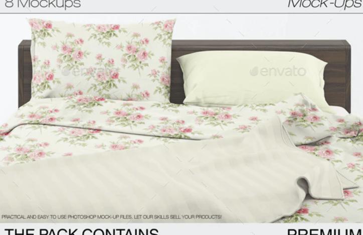 Linen bedding mockup1