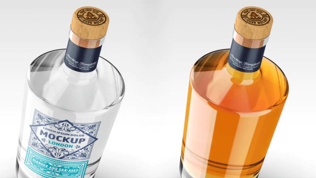 Liquor Bottle Packaging Mockup