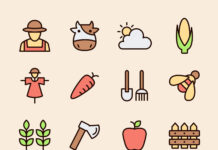 Local Commensal Farm Vector Icons (1)