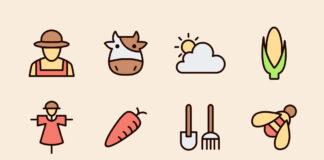 Local Commensal Farm Vector Icons (1)