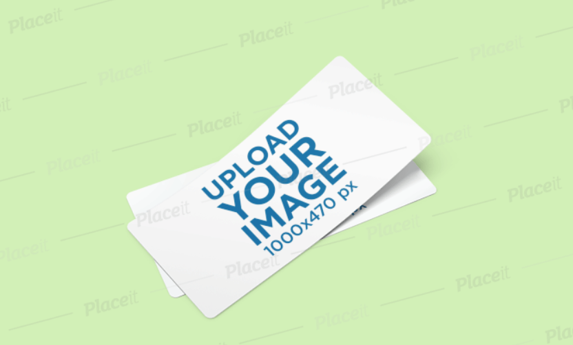 Mockup of Two Customizable Gift Vouchers