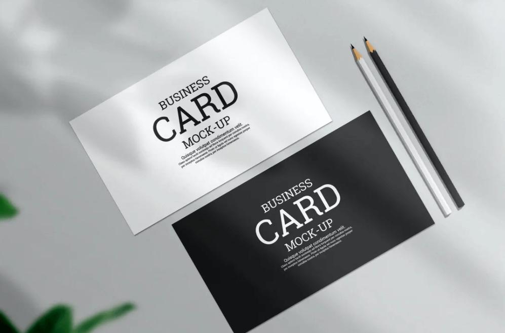 Modern minimal business card mockup