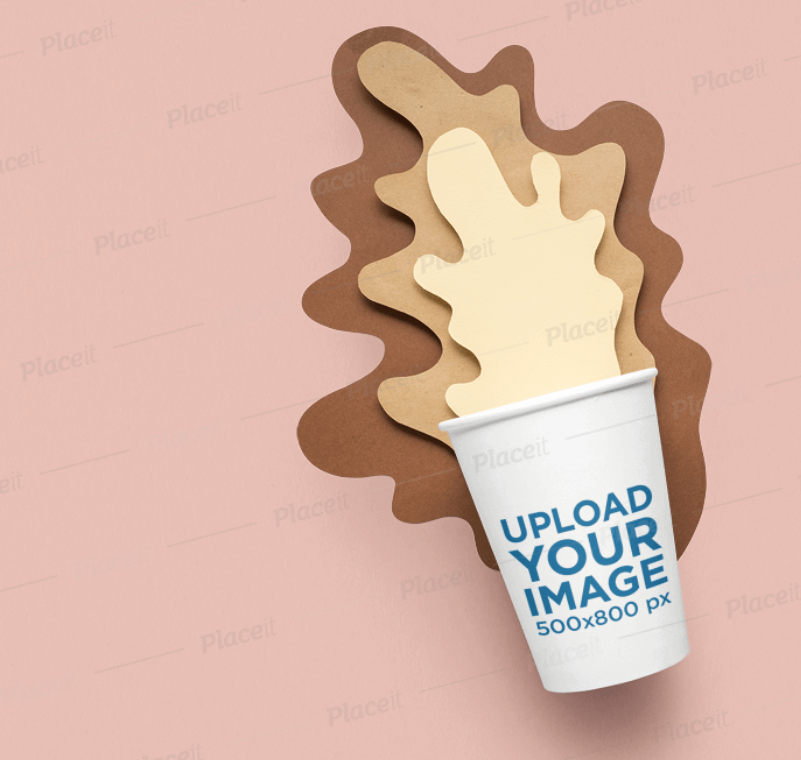 Paper Cup Mockup Featuring a Fun Decoration