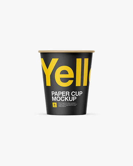Paper Cup Mockup - Front View (1)