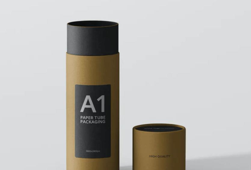 Paper Tube Packaging Mockup - Slim