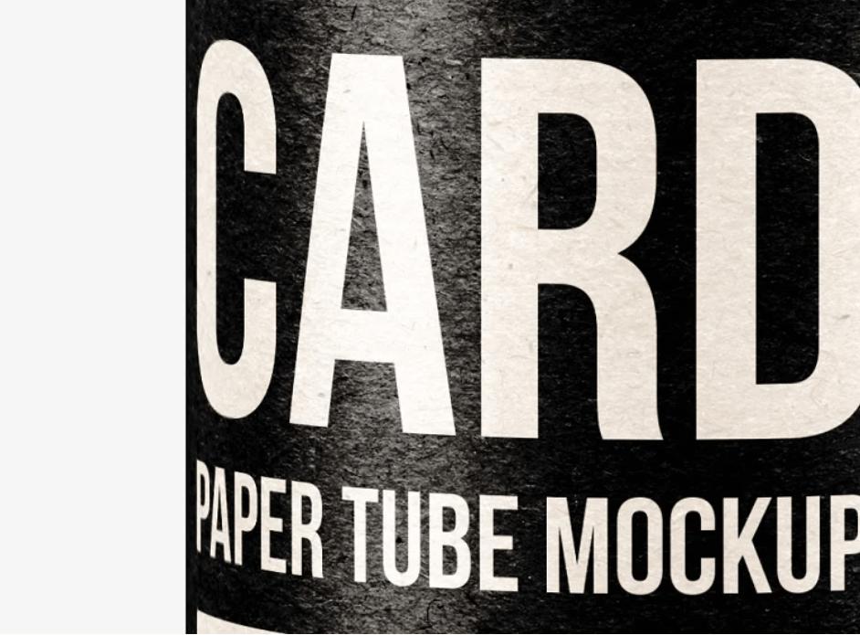 Paper Tube TIN CAN Mockup