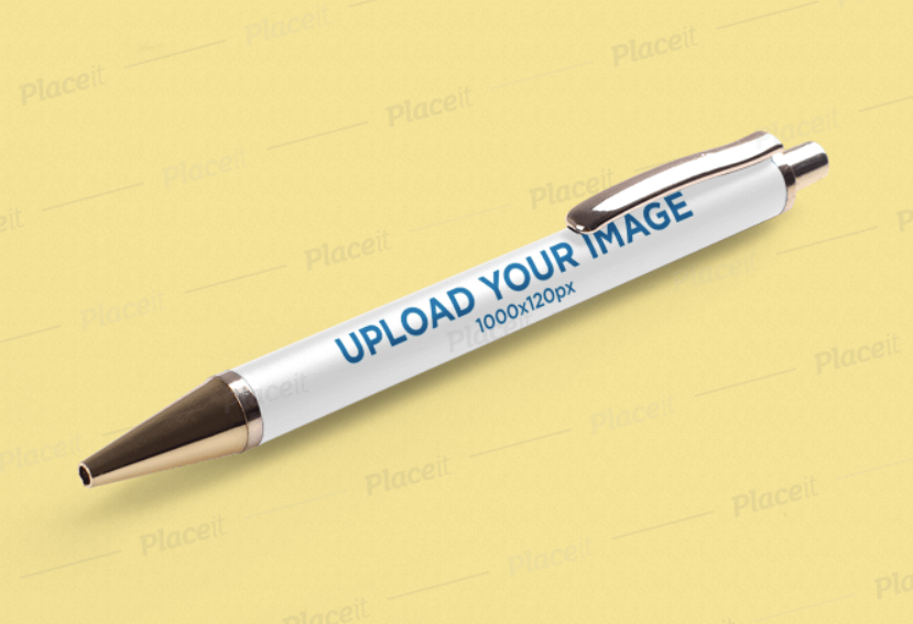 Pen Mockup Featuring a Solid Color Backdrop