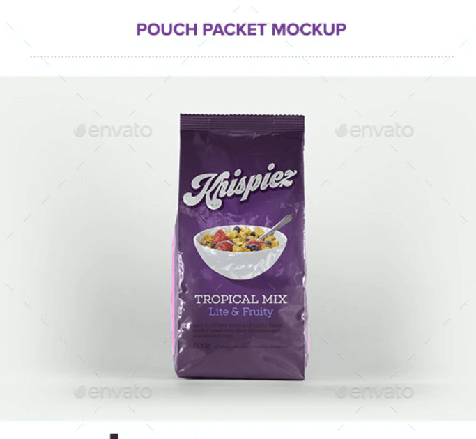 Pouch Packet Packaging Mockup