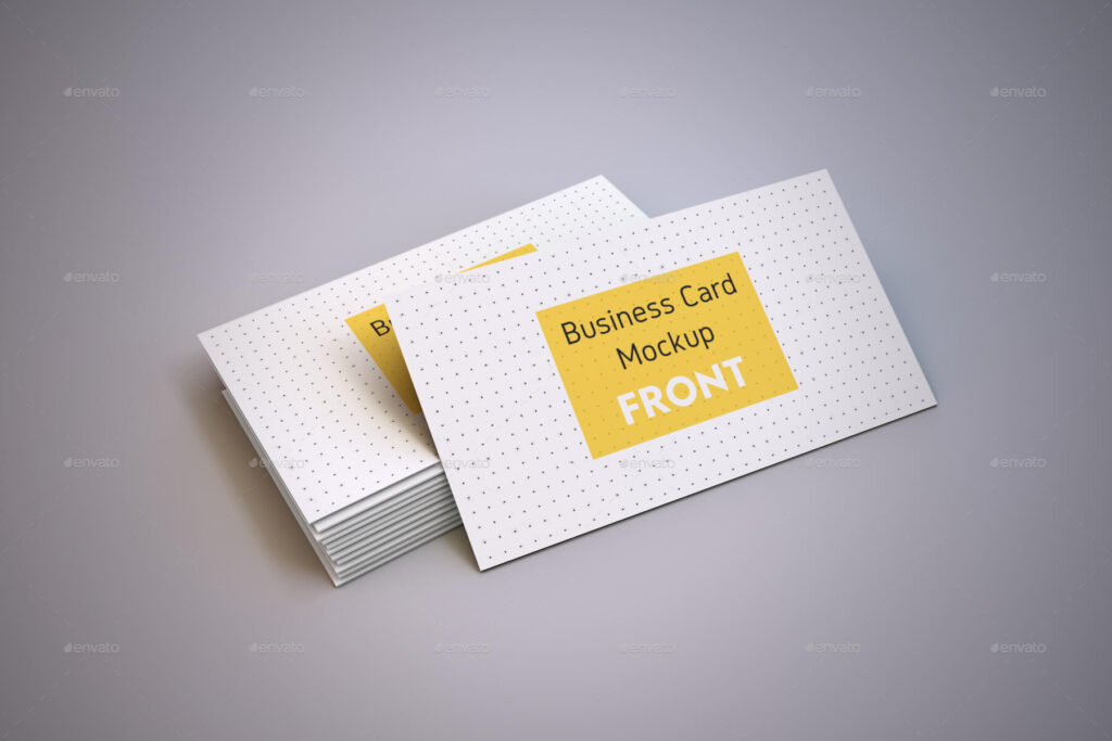 Realistic Business Card and A4 paper Mockup Pack (1)