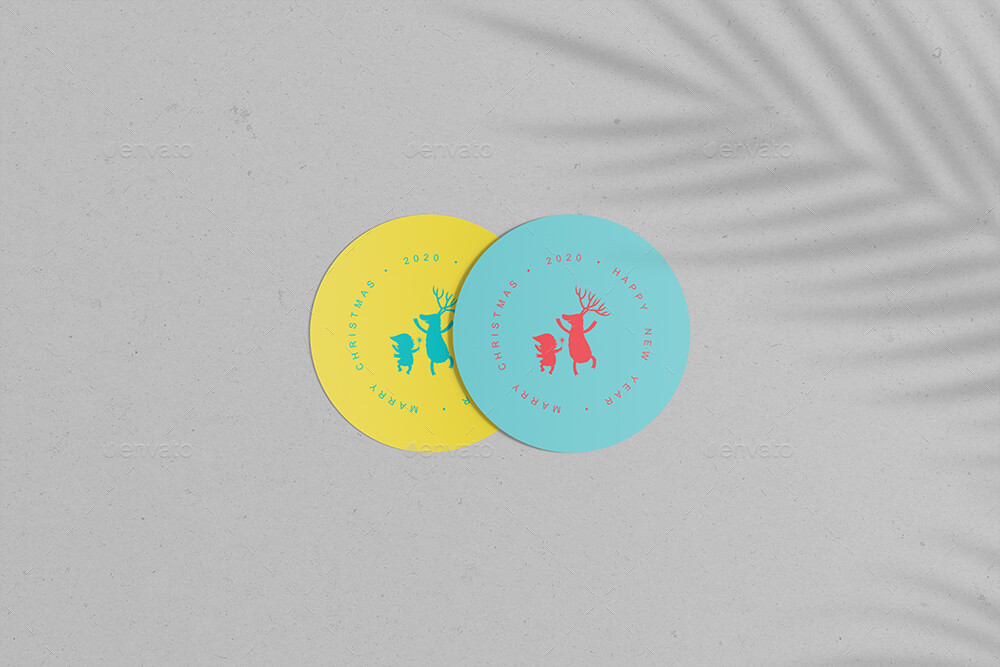 Round Cards Stickers Mock-Ups Vol.1 (1)