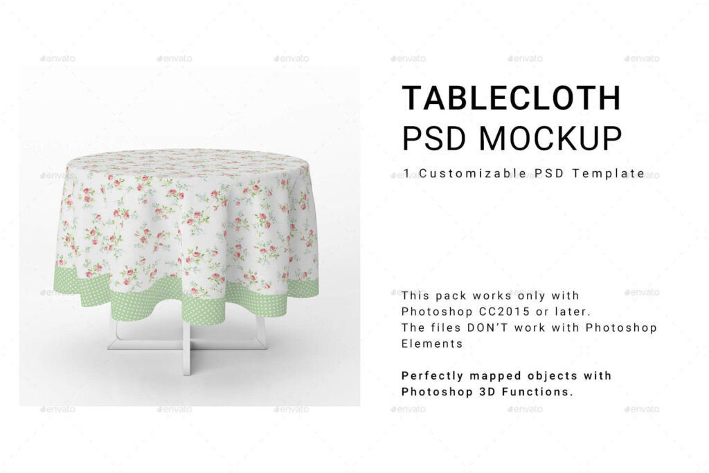Round Tablecloth Mockup Set (1)