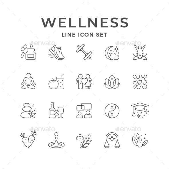 Set Line Icons of Wellness (1)