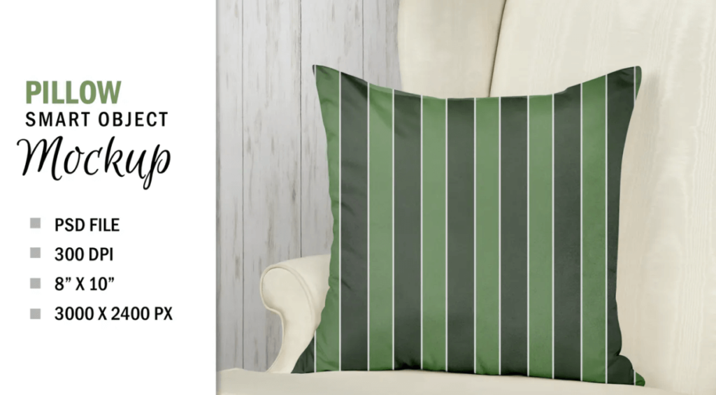 Smart Layer Pillow Chair Mockup Sublimation