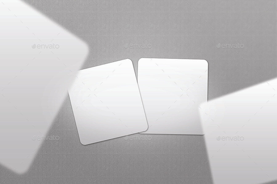 Square, Rounded and Circular Business Card Mock Up (1)