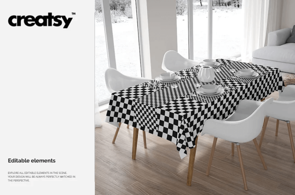 Table Textiles Mockup Set