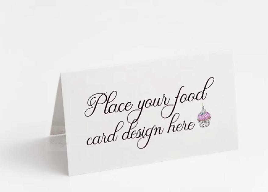 Table food card template psd mockup