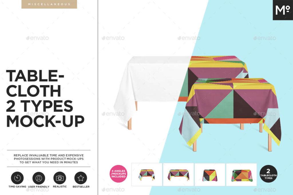 Tablecloth 2 Types Mock-ups Set (1)
