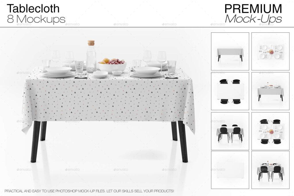 Tablecloth Mockup Set (1)