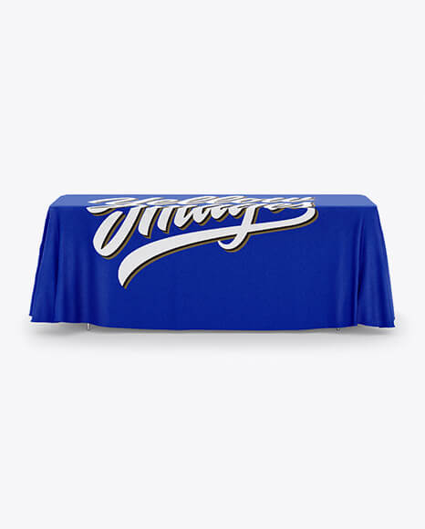 Tablecloth with Table Runner Mockup (1)