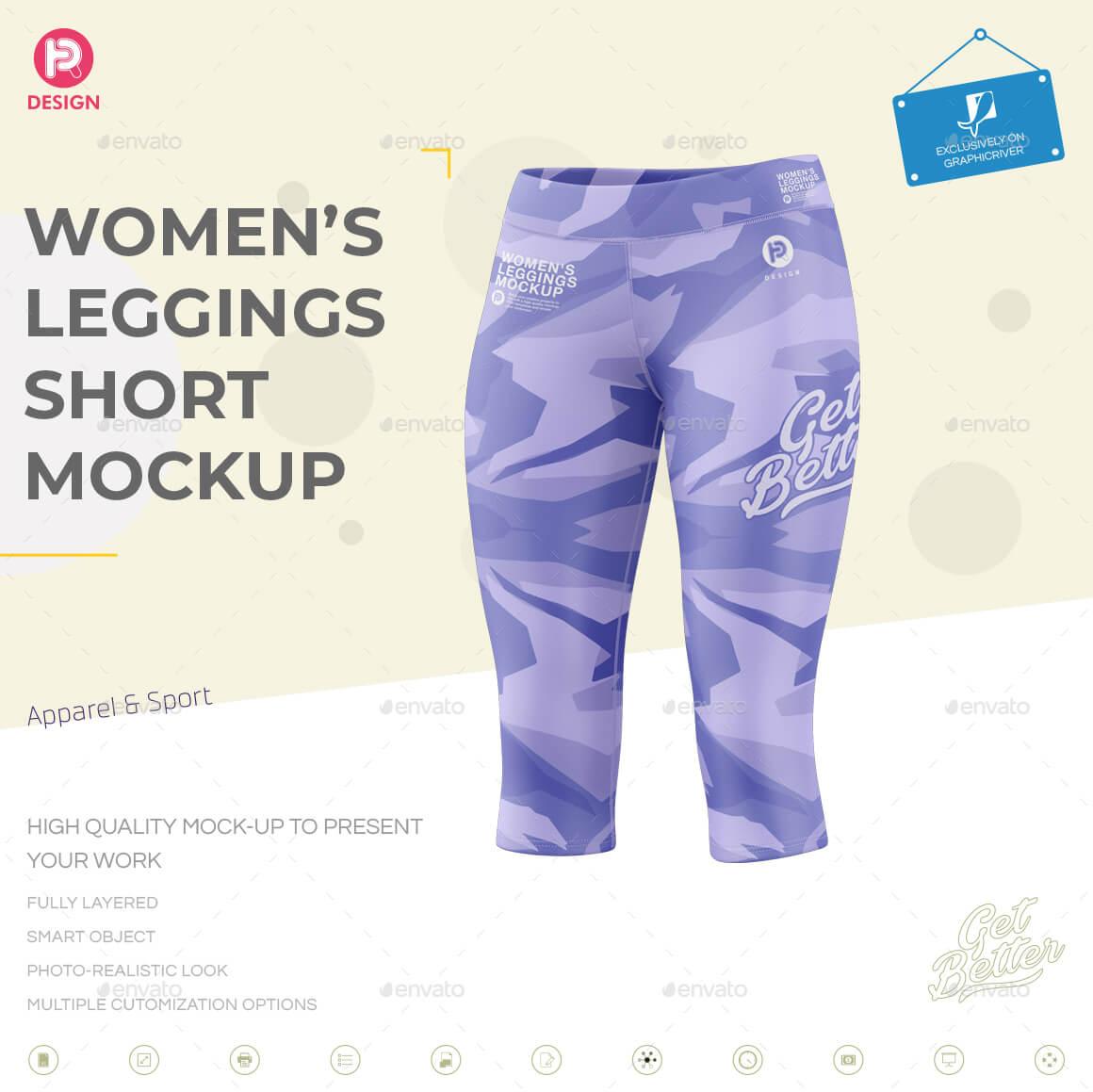 Women's Leggings Short Mockup (1)