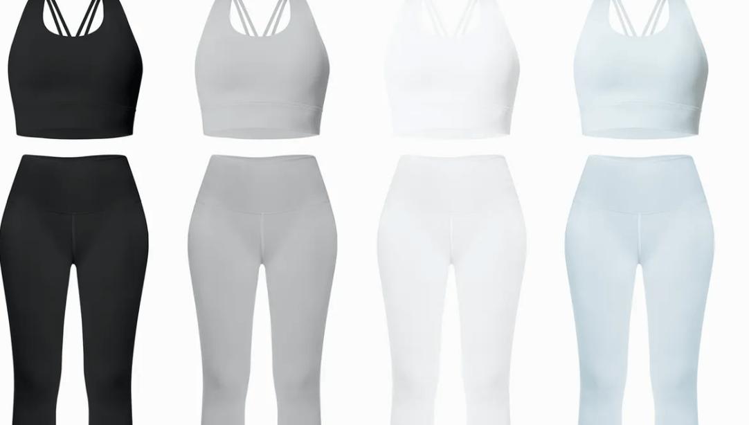 Women's Leggings and Sports bra Mockup