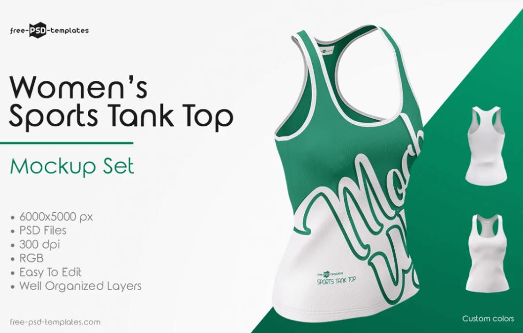 Women's Sports Tank Top Mockup Set