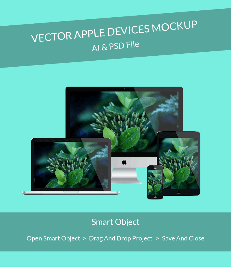 Free Photorealistic Apple Devices Mockup PSD Template
