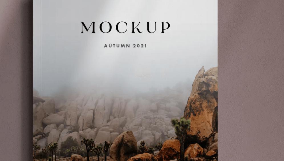 A4 Magazine Cover Mockup1