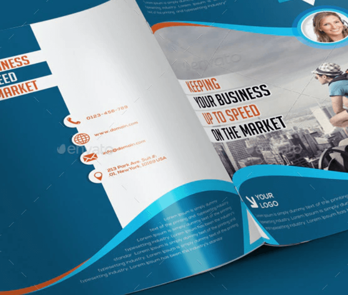 Bi-fold Brochure Template 4 Pages