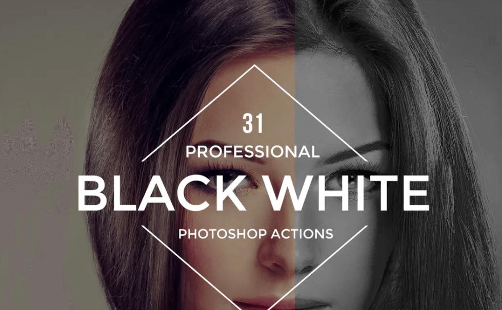 Black White Photoshop Actions