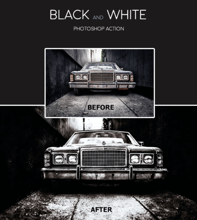 Black and White - Photoshop Action
