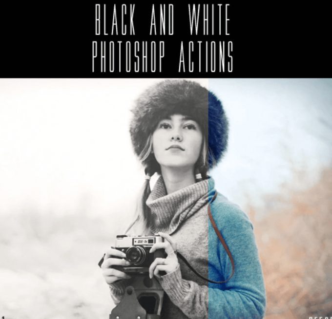 Black and White Photoshop Actions1