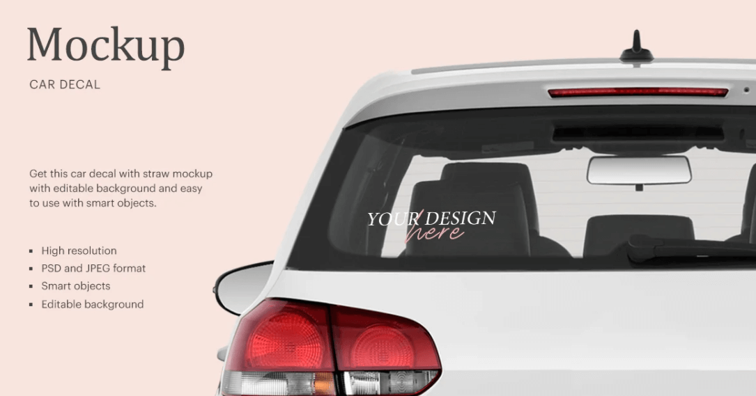 Car Decal Styled Mockup