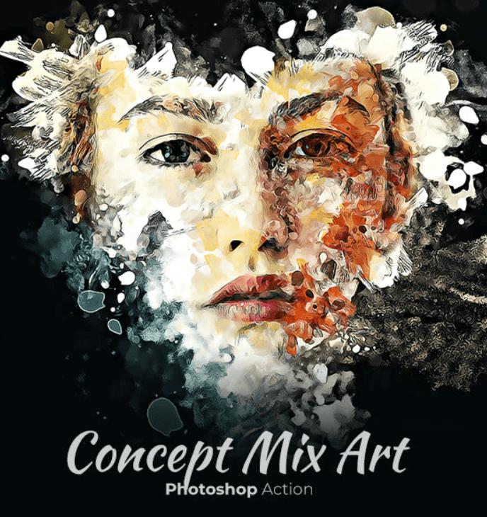Concept Mix Art Photoshop Action1