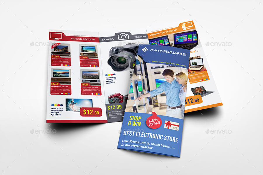 Electronics Products Catalog Tri-Fold Brochure Template (1)