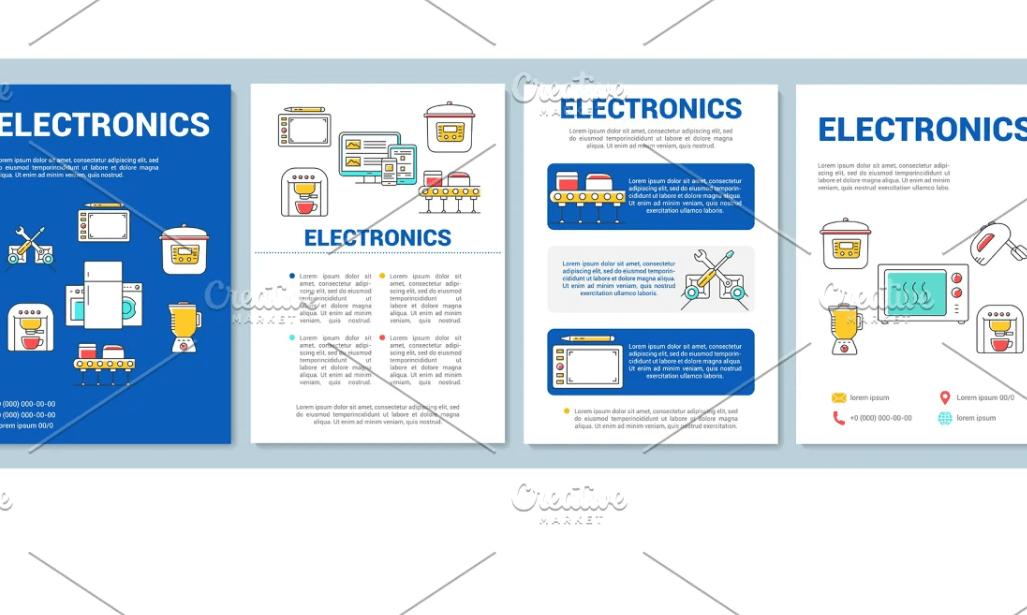 Electronics industry brochure