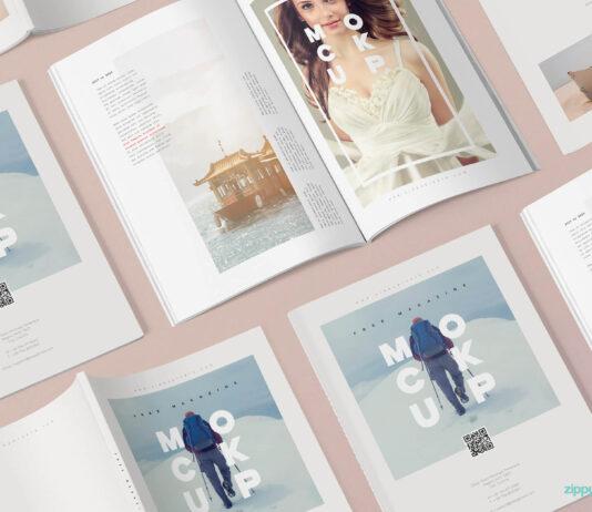 Free 3+ Magazine Mockup PSD Templates (1)